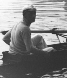 Otto Maier, hier 1913 beim Achterrennen Frankfurt - Paris auf der Seine.