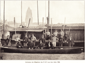 Mitglieder auf dem Bootsplatz 1869