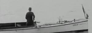 """Die Dampfbarkasse """"Greif"""" des FRV im Film von 1914"""