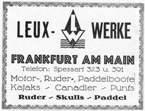 Anzeige der Leux-Werke in den Monatlichen Mitteilungen des FRV vom Juni 1925