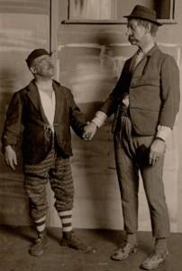 Fritz Nicolai als Pat und Patachon (er ist der Linke) beim FRV-Kirta 1928 (FRV-Archiv)