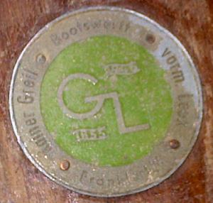 Marke des Bootsbauers Rainer Greil