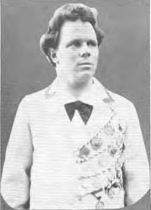 Friedrich Stoltze (der Enkel) ca. 1900 mit Radaddelchen
